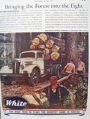 White Truck Bringing the Forest Ad 1944
