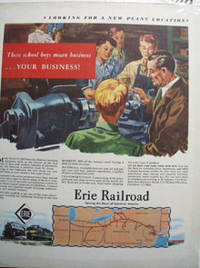 Erie RR School Boys Mean Business Ad 1947