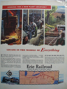 Erie RR Middle of Everything Ad 1947
