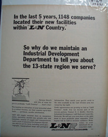L & N RR 13 State Region Ad 1967