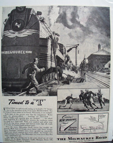 Milwaukee RR Timed To A T Ad 1946