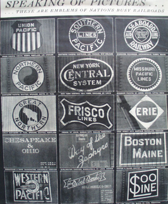 Emblems of Railroads Article 1944