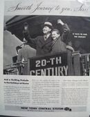 New York Central RR Smooth Journey Ad 1936