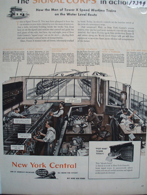New York Central RR Signal Corps in Action Ad 1944