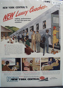 New York Central RR Luxury Coaches Ad 1946
