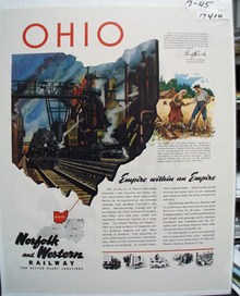 Norfolk & Western Railway Ad 1945