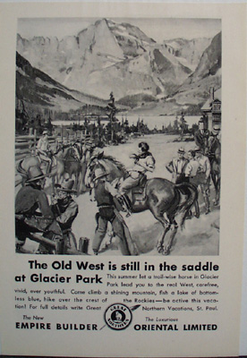 Oriental Limited Old West Ad 1931