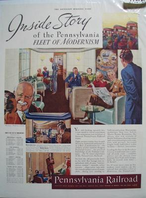 Pennsylvania RR Inside Story Ad 1938