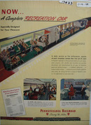 Pennsylvania RR Complete Recreation Car Ad 1948