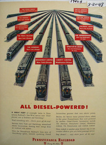 Pennsylvania RR Diesel Powered Ad 1948