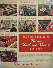 Pennsylvania RR Better RR Service Ad 1948