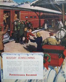 Pennsylvania RR Christmas Ad 1948