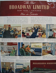 Pennsylvania RR Broadway Ltd. Ad 1949