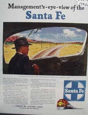 Sante Fe RR Eye View Ad 1946