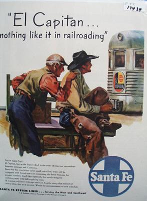 Santa Fe RR Nothing Like It Ad 1947