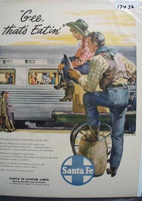 Santa Fe RR That's Eating Ad 1947