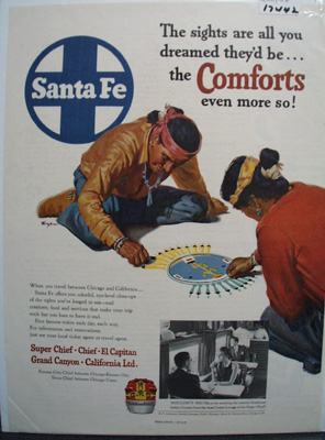 Santa Fe RR All You Dreamed Ad 1952