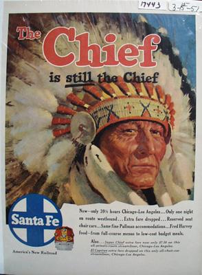 Santa Fe RR Still the Chief Ad 1950's