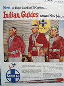 Santa Fe RR Indian Guides Ad 1954