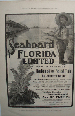 Seaboard Florida Ltd. RR Fastest Train Ad 1930's