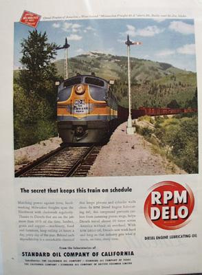 RPM Delo Std Oil & Diesel Engine Ad 1949