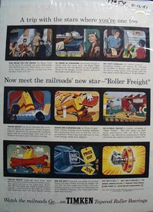 Timken Roller Bearing Roller Freight Ad 1951