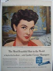 Lustre Crme & Kathryn Grayson Ad 1952