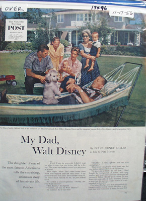 My Dad, Walt Disney Article 1956