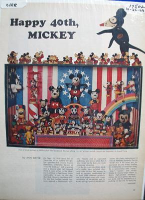 Disney's Happy 40th Mickey Article 1968