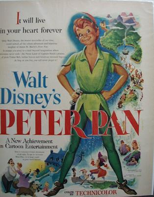 Disney Peter Pan Movie Ad 1953