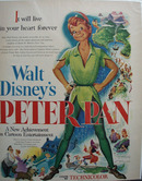 Disney Peter Pan Movie Ad 1953