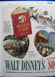 Disney So Dear To My Heart Movie Ad 1956