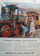 Insurance by N. America & Disneyland Ad 1958