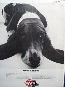 Flying A Service Station & Axelrod Ad 1965