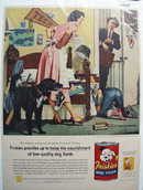 Friskies Dog Food & Lost Shoe Ad 1955