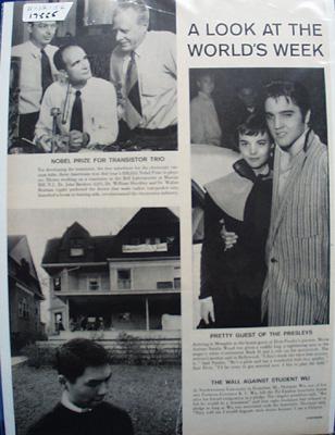 Elvis Presley and Natalie Wood Picture 1956