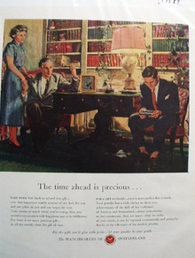 Watchmakers of Switzerland Precious Time Ad 1948
