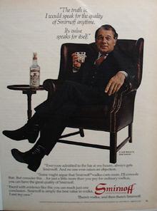 Smirnoff Vodka & F.Lee Bailey Ad  1982