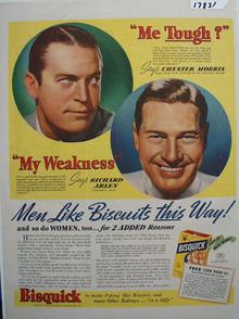 Bisquick & Richard Arlen Ad 1939