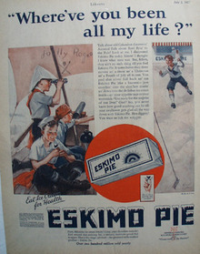 Eskimo Pie Where've You Been Ad 1927