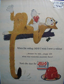Jell-0 & Cat on Limb Ad 1955