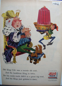 Jell-0 & Old King Cole Ad 1956