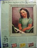 Kre-Mel Desserts & Annette Dionne Ad 1940