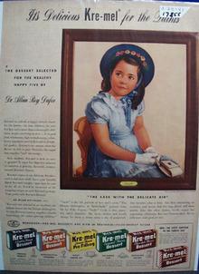 Kre-Mel Desserts & Cecile Dionne Ad 1941