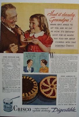 Crisco Isn't It Dandy Ad 1937