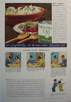 Wesson Oil Help Yourself Ad 1936