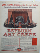 Reyburn Art Crepe Window Trimming Ad 1928