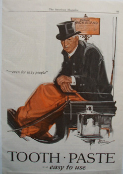 Listerine Tooth Paste For Lazy People Ad 1927