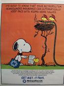 Metropolitan Ins & Snoopy & Woodstock Ad 1986