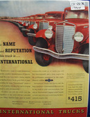 International Harvester Truck In Name Ad 1936